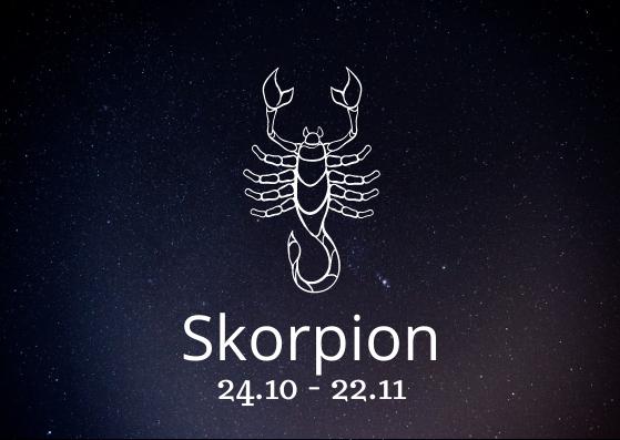 Sternzeichen Skorpion mit Geburtsdatum