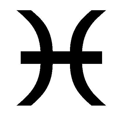 Astrologisches Symbol für das Sternzeichen Fische