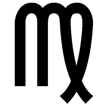 Astrologisches Symbol für das Sternzeichen Jungfrau