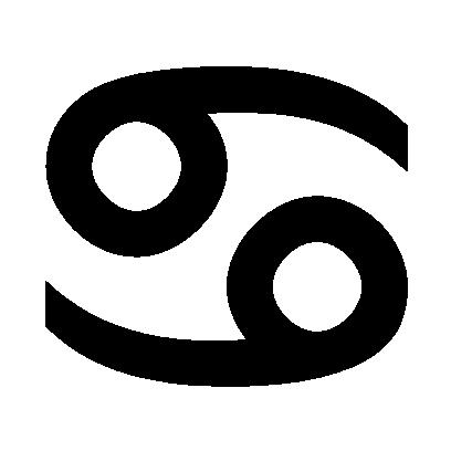 Astrologisches Symbol für das Sternzeichen Krebs