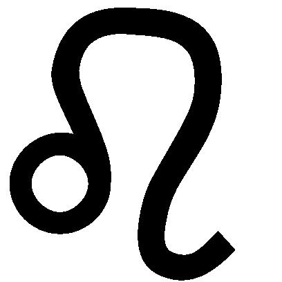 Astrologisches Symbol für das Sternzeichen Löwe