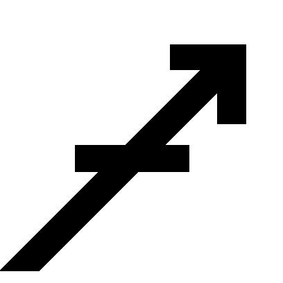 Astrologisches Symbol für das Sternzeichen Schütze