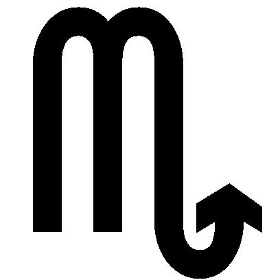 Astrologisches Symbol für das Sternzeichen Skorpion