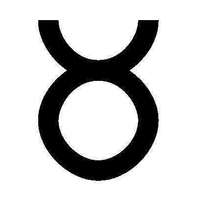Astrologisches Symbol für das Sternzeichen Stier
