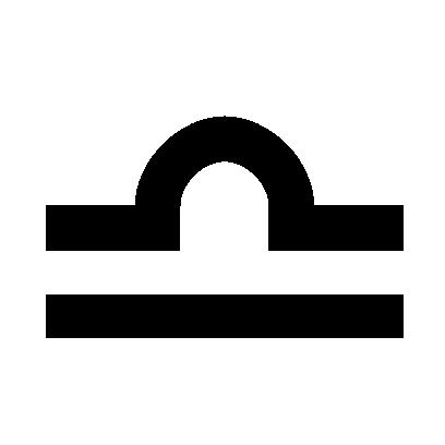 Astrologisches Symbol für das Sternzeichen Waage