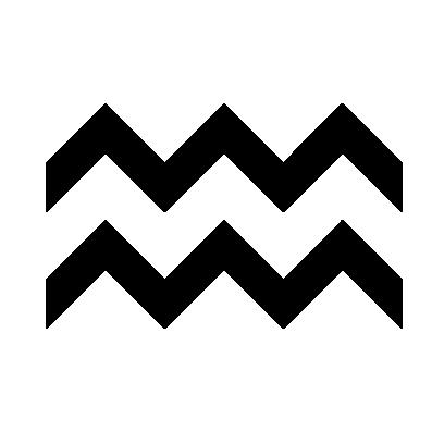 Astrologisches Symbol für das Sternzeichen Wassermann