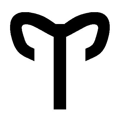 Astrologisches Symbol für das Sternzeichen Widder