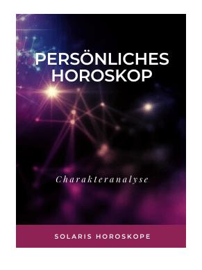 Cover E-Book Persönliches Horoskop Charakteranalyse