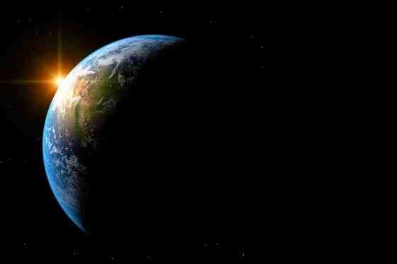 Erde vom All aus gesehen