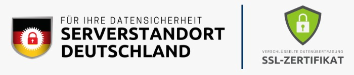 Logo für den Serverstandort Deutschland